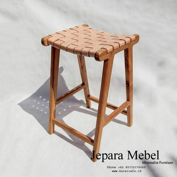 harga kursi bar, kursi bar, kursi bar minimalis, ukuran kursi bar, kursi bar kayu,Kursi Bar Minimalis Ayaman Kulit