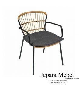 kursi café, meja kursi café, harga kursi café, jual kursi café, kursi cafe murah, kursi restoran,Kursi Cafe Minimalis Rotan Unik Gabriel