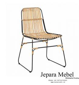 kursi café, meja kursi café, harga kursi café, jual kursi café,Palma Chair Cafe Modern Rotan Alami