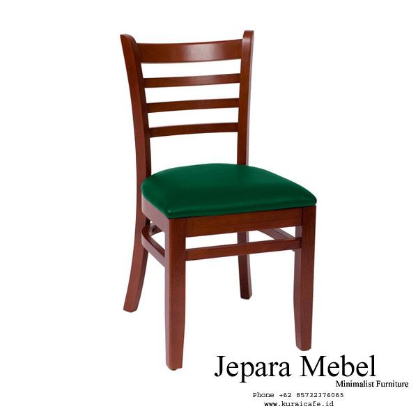 Kursi Cafe Kayu Jati Jog Kulit Oscar