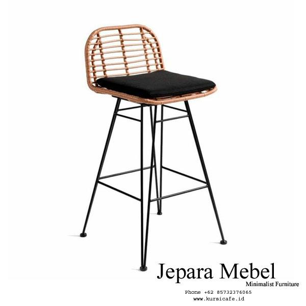 harga kursi bar, harga kursi bar ikea, harga kursi bar Rotan, Jepara Mebel, kursi bar,Bar Stool Rotan Kaki Tinggi